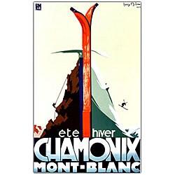 Henry Reb 'Chamonix Mont Blanc' Framed Canvas Art