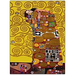 Gustav Klimt 'Fulfillment' Framed Canvas Art