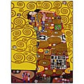 Gustav Klimt 'Fulfillment' Framed Canvas Art
