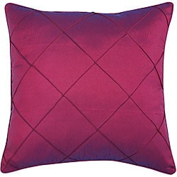 Decorative Diamond-pattern Plum Red Cushion Cover