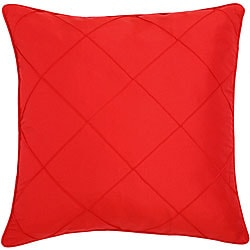 Red Diamond Patterned Cushion Cover