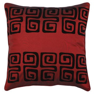 Black/ Burgundy Swirl Design Cushion Cover