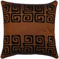 Brown/ Black Swirl Design Cushion Cover