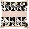Beige/ Black Swirl Design Cushion Cover