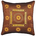 Decorative Gold Stitch Design Brown Cushion Cover