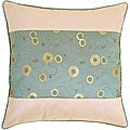 Decorative Floral Green and Beige Cushion Cover