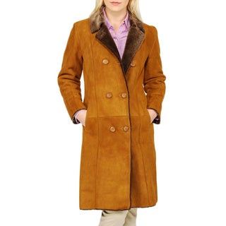 Women's Double-breasted Shearling Coat