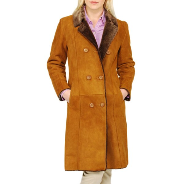 Women's Double-breasted Shearling Coat 4189530