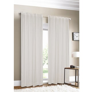 Luxury Linen White Lined  Curtain Panel