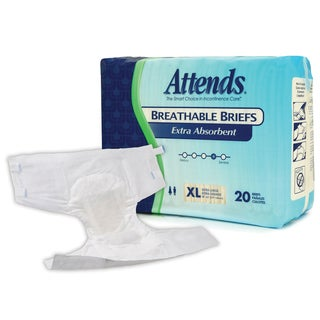 Attends Extra Absorbent X Large Breathable Briefs (Case of 60)