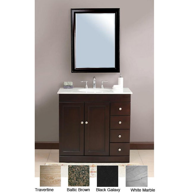 38 inch stone counter top bathroom vanity lavatory single sink cabinet