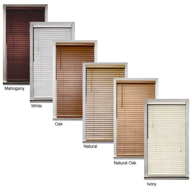 Bamboo 2 inch blind 20 in x 72 in overstock shopping for 20 inch window blinds