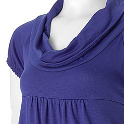 Self Esteem Juniors Cowl Neck Empire Waist Tunic