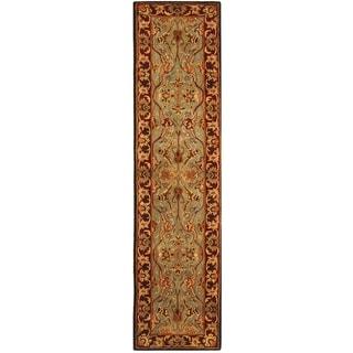 Safavieh Handmade Heritage Traditional Blue/ Red Wool Runner (2'3 x 10')