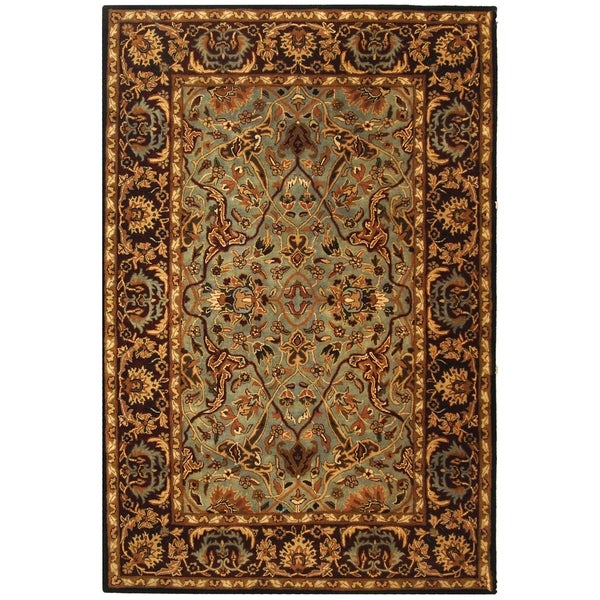 Safavieh Handmade Heritage Traditional Blue/ Red Wool Rug (4' x 6')