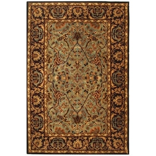 Handmade Heritage Traditional Blue/ Red Wool Rug (5' x 8')