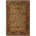 Safavieh Handmade Heritage Traditional Blue/ Red Wool Rug (5' x 8')