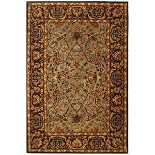 Handmade Heritage Traditional Blue/ Red Wool Rug (8'3 x 11')