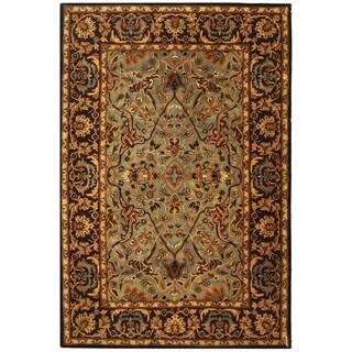 Safavieh Handmade Heritage Traditional Blue/ Red Wool Rug (9'6 x 13'6)