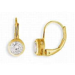Simon Frank 14k Gold Overlay Cubic Zirconia Earrings