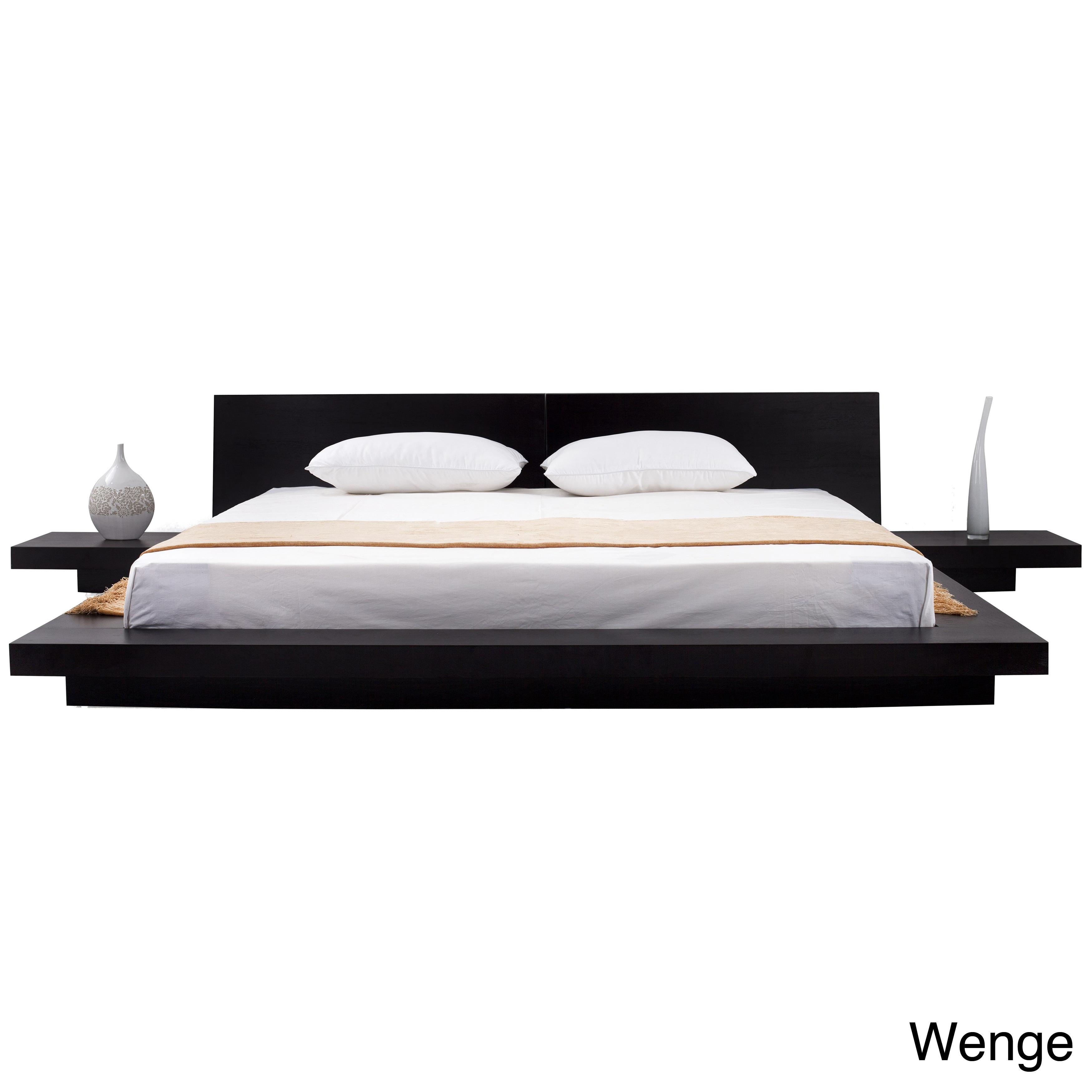 fujian 3 piece queen size platform bedroom set overstock