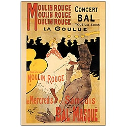 Henri Toulouse-Lautrec 'Moulin Rouge La Goulue' Canvas Art