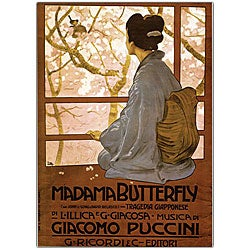'Giacamo Puccini, Madam Butterfly' Framed Art