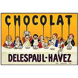 'Chocolate Delespaul Havez' Canvas Art