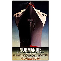 Adolphe Cassandre 'Normandie' Framed Art