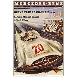 'Mercedes Benz' Framed Canvas Art