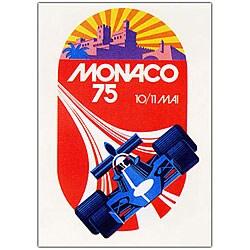 George Ham 'Monaco 1975' Framed Canvas Art