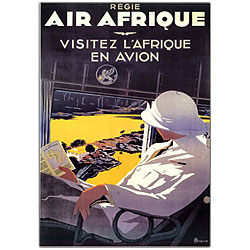 A. Roquin 'Air Afrique' Framed Canvas Art