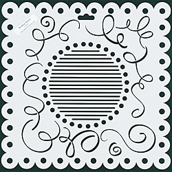 Crafter's Workshop Scallop Swirls 12x12-inch Templates