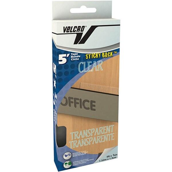 Clear Velcro 0.75-inch Sticky Back Tape