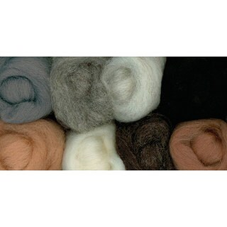 Wistyria Editions Assorted Wool Roving (Pack of 8)