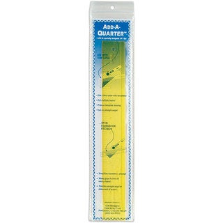Add-A-Quarter 12-inch Yellow Ruler