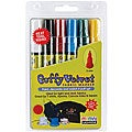 Primary Puffy Velvet Fabric Markers (Pack of 6)