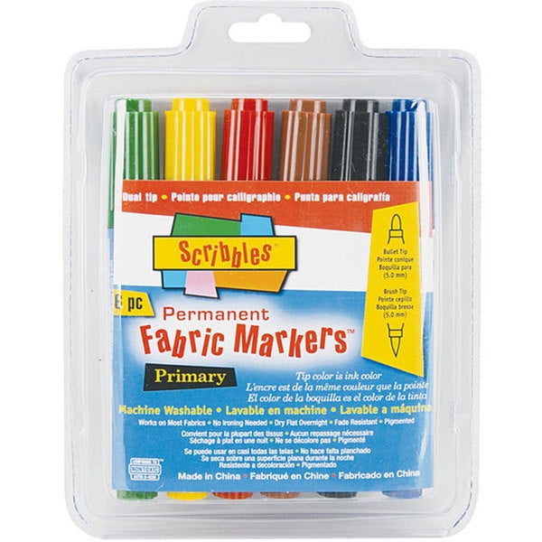 Scribbles Dual-tip Permanent Fabric Markers