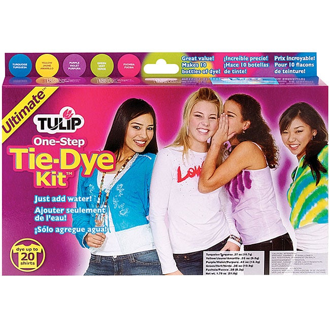 Tulip One-step Ultimate Craft Project Bright Fashion Tie-dye Kit