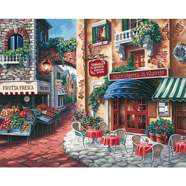 Taste Of Italy 20x16 Paint By Number Kit