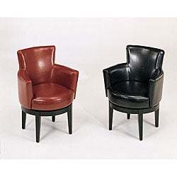 Bicast Leather Swivel Club Chair