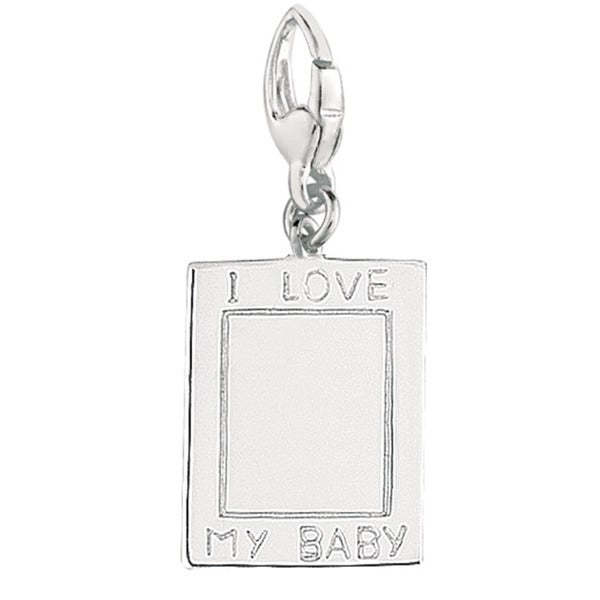 Sterling Silver 'I Love My Baby' Engravable Charm