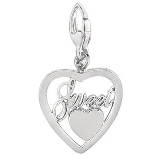 Sterling Silver 'Sweet Heart in Heart' Charm
