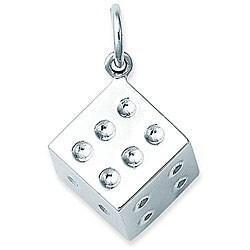 Sterling Silver Large Die Charm