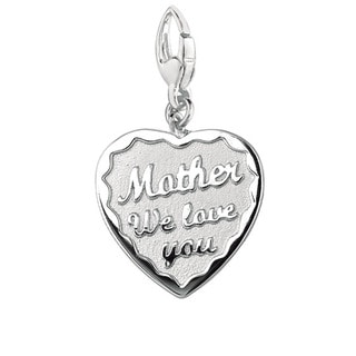 Sterling Silver 'Mother We Love You' Heart Charm