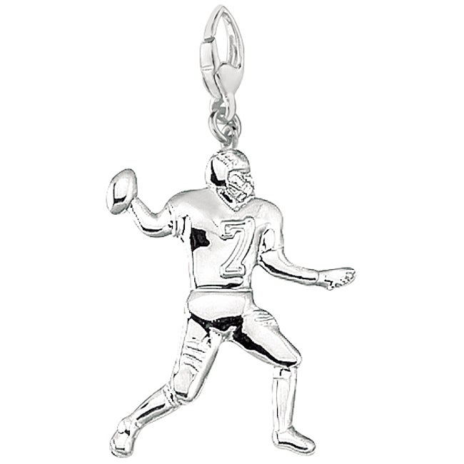 Sterling Silver Football Player Charm