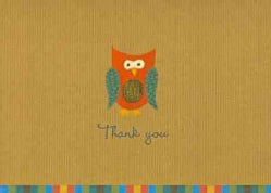 Owl Thank You Notes (Cards)