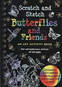 Scratch and Sketch Butterflies and Friends: An Art Activity Book (Hardcover)
