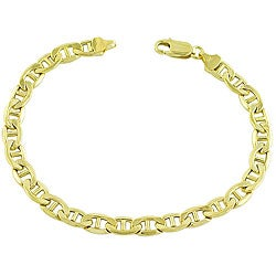Fremada 14k Yellow Gold 8.5-inch Mariner Bracelet