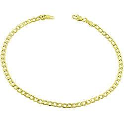 Fremada 14k Yellow Gold Curb Bracelet (8.5-inch)